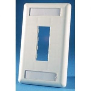 Face plate blanco marfil doble 6A