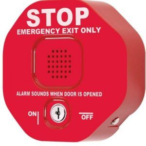 """Exit Stopper Multifunction Door Alarm (standard Red, for Green add """"-G"""" to end of part #)"""