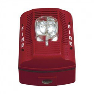Wall, Outdoor, Red, Selectable Candela, Speaker/Strobe