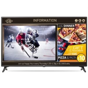 """43"""" FHD Direct LED / 400nit / Built-in Speakers and TV Tuner / NEW Content Manager / NEW Group Ma"""