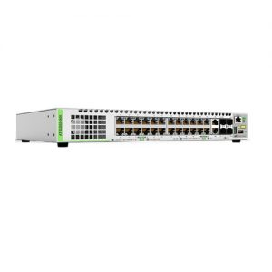 Gigabit Ethernet Managed switch with 24 ports 10/100/1000T Mbps, 2 SFP/Copper combo ports