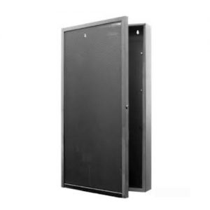 Equipment Door assembly, vented, two tiers, black.