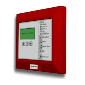 Remote Annunciator, 80 character LCD, Common System indicators and controls, Red housing, mounts to