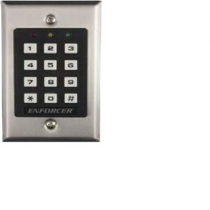 Indoor Stand-Alone Keypad with 100 users and one 5A relay output . Includes duress, quick code, wron
