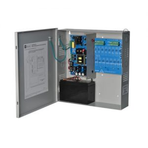 16 Output Power Supply/Charger - 12VDC @ 10 amp, PTC outputs, AC & battery monitoring,enclo.